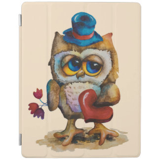 Owl with the heart iPad Smart Cover Beige iPad Cover