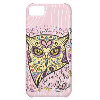 Owl Wood Grain Pattern Choose Your Color Case For iPhone 5C