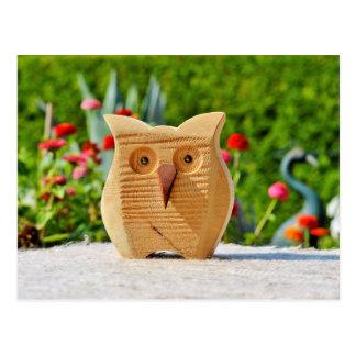 Owl wood postcard