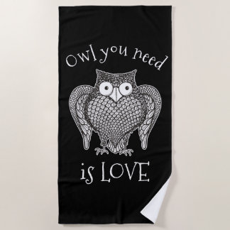 Owl you Need Beach Towel
