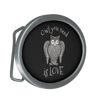 Owl you Need Belt Buckle