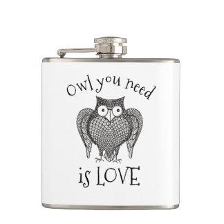 Owl you Need Hip Flask