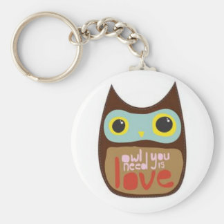 Owl you need is love keychain