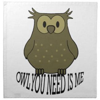 owl you need is me napkin