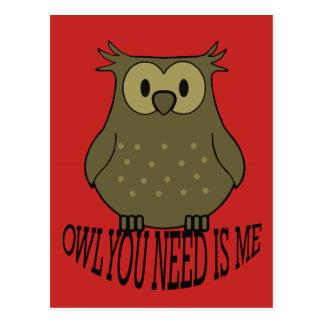 owl you need is me postcard
