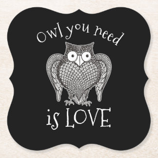 Owl you Need Paper Coaster