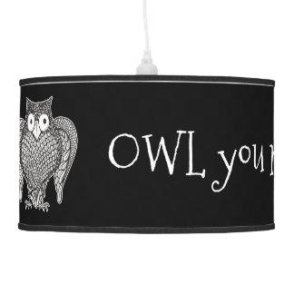 Owl you Need Pendant Lamp