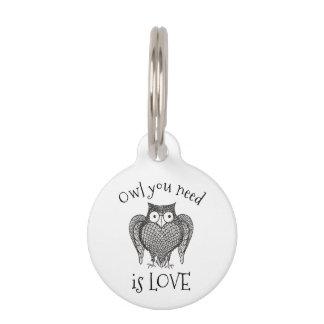 Owl you Need Pet Name Tag
