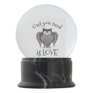 Owl you Need Snow Globe