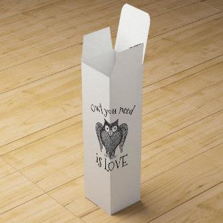 Owl you Need Wine Box