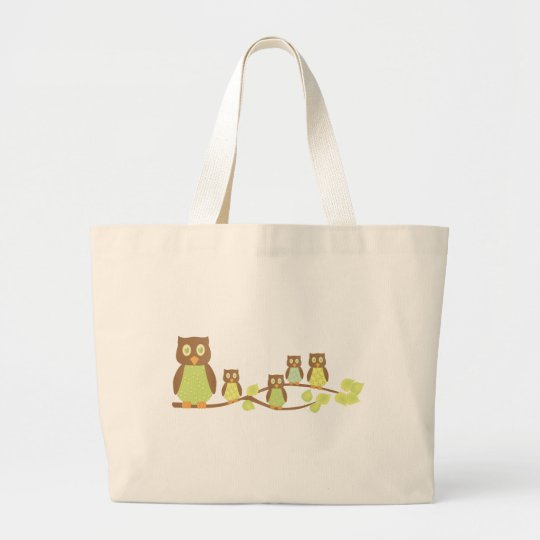 Owlies Large Tote Bag