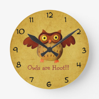 Owling is Hoot! Round Wallclock