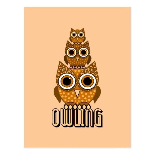 owling postcard