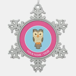 Owlowiscious Twilight Sparkle's Sidekick Pewter Snowflake Ornament