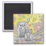 Owls 03 Fridge Magnet