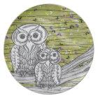 Owls and Butterflies 2 Plate