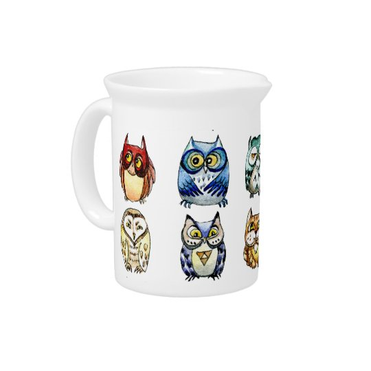 Owls and Cat Pitcher