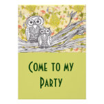Owls and Peacocks Invitations