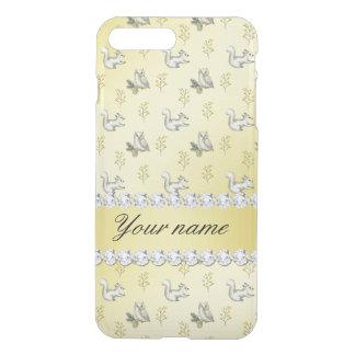 Owls and Squirrels Faux Gold Foil Bling Diamonds iPhone 8 Plus/7 Plus Case