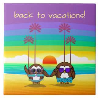 owls are back to vacations! ceramic tiles