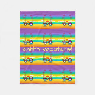 owls are back to vacations! fleece blanket