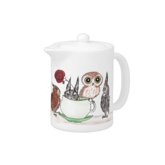 Owls at Teatime -Teapot