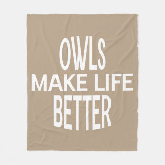 Owls Better Blanket - Assorted Sizes & Colors