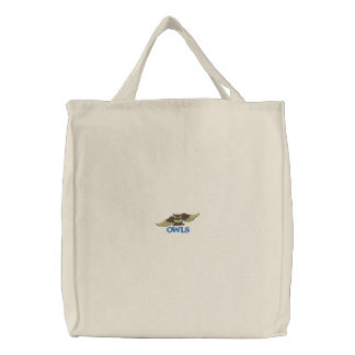 OWLS embroidered bag