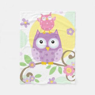 Owls Flannel Blanket