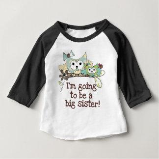Owls Future Big Sister Baby T-Shirt