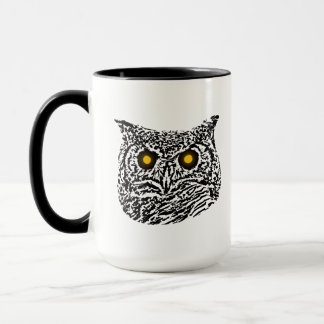 Owl's Gaze Graphic Mug