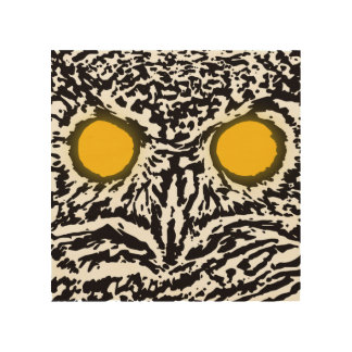 Owl's Gaze Wood Wall Art Wood Print