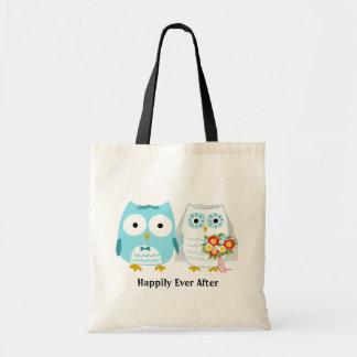 Owls Getting Married - Cute Bride and Groom Tote Bag