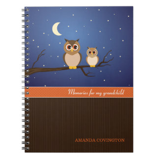 Owls Grandchild Memories Notebook