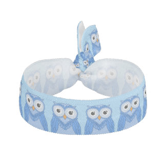 Owls Hair Ties: Blue Owls Hair Tie