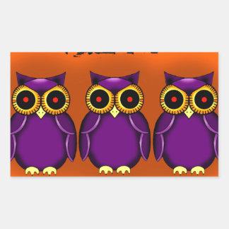 Owls Halloween Sticker