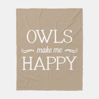 Owls Happy Blanket - Assorted Sizes & Colors