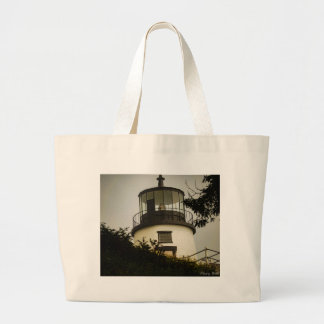 Owls Head Lighthouse Large Tote Bag