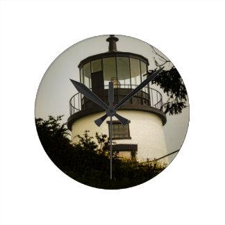 Owls Head Lighthouse Round Clock