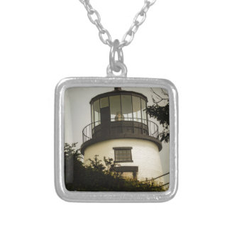 Owls Head Lighthouse Silver Plated Necklace
