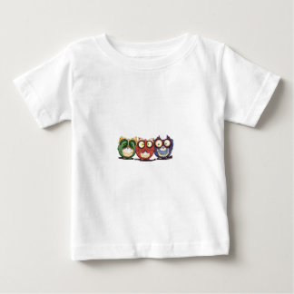 Owls Hoot See Speak Hear No Evil Baby T-Shirt