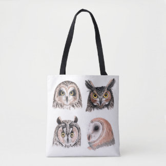 Owls Illustration Totebag Tote Bag