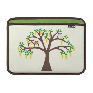 Owls in a Flowery Laburnum Tree Mac Book Sleeve Sleeve For MacBook Air