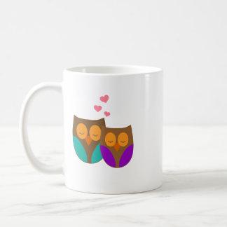 Owls in a Nest Classic White Coffee Mug