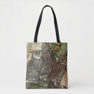 Owls in batik style Tote Bag
