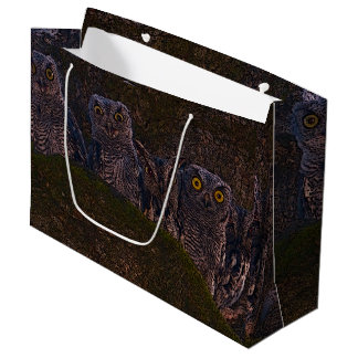 Owls in the Oak Hollow Large Gift Bag