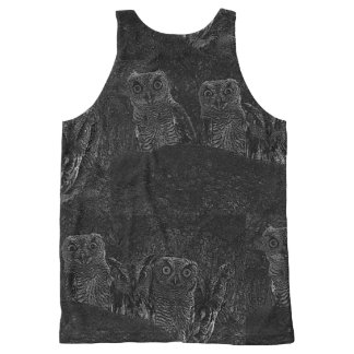 Owls in the Oaks All-Over-Print Tank Top