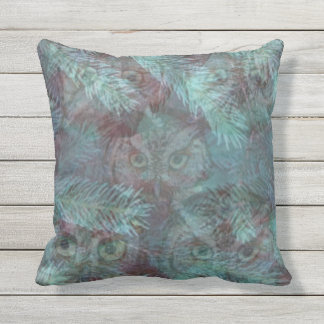 OWLS IN THE WOODS by SLipperywindow Throw Pillow