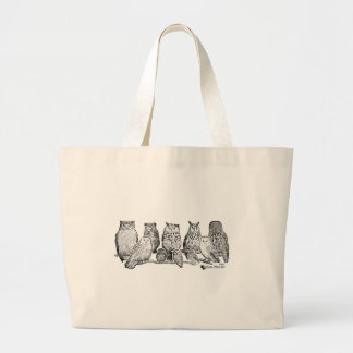 Owls Large Tote Bag