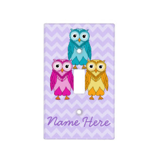 Owls Light Switch Cover: Custom Owls Switch Plate Covers